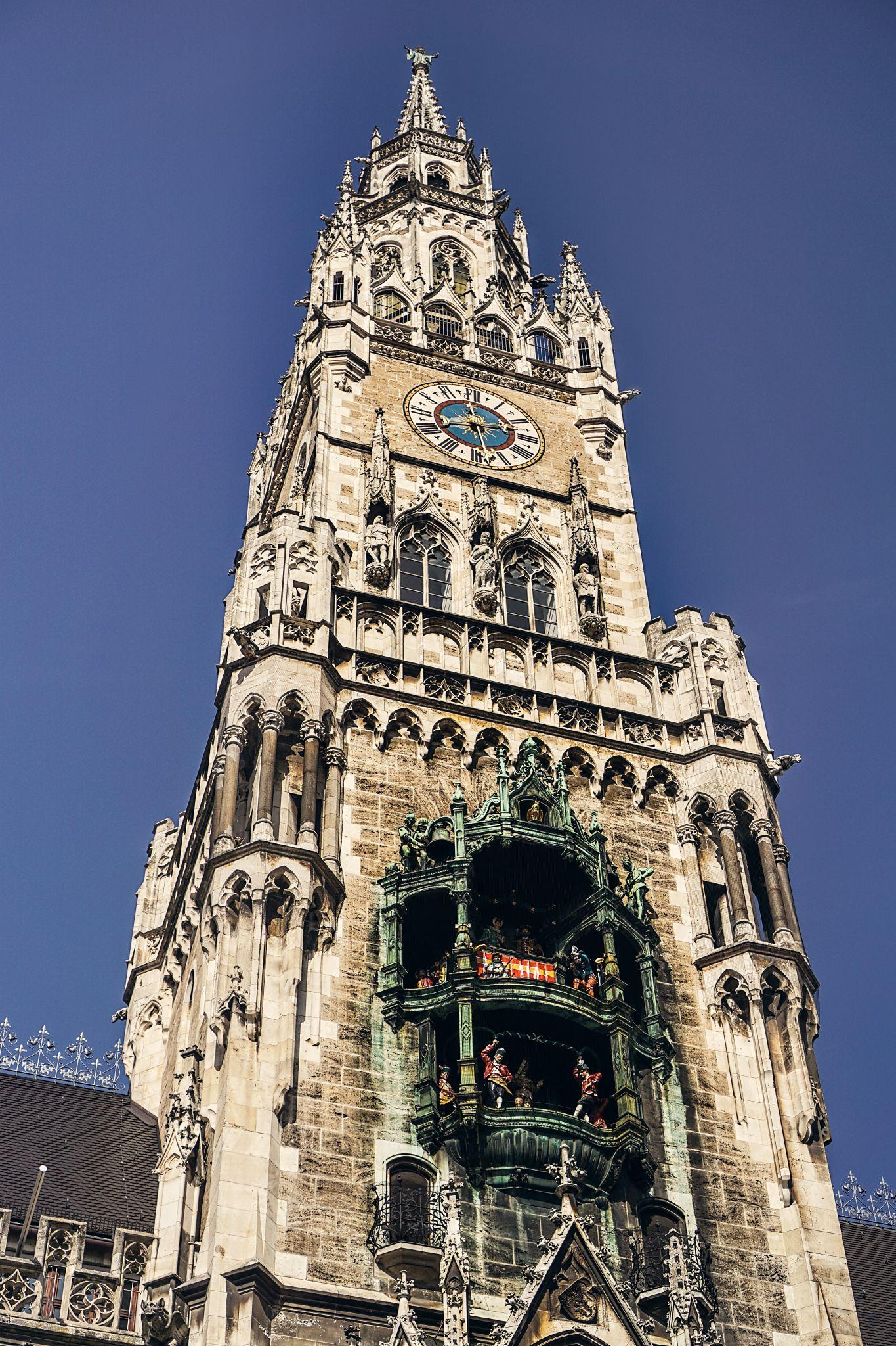 Das Glockenspiel im Münchner Rathausturm