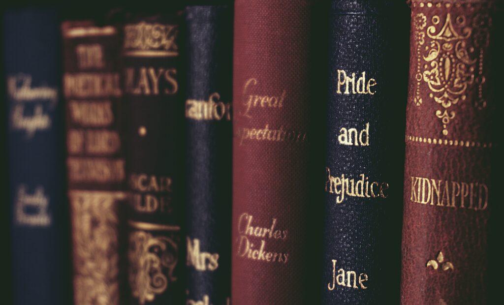 Bücher von Janes Austen, Charles Dickens usw.