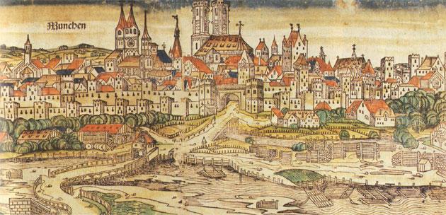Handelsroute führt nach München: Wirtschaft und Handel im Mittelalter waren abhängig von Handelswegen