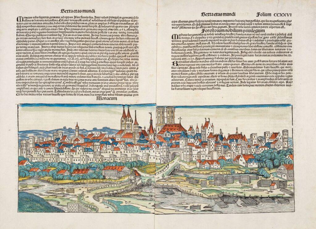 Mittelalter Stadtansicht München